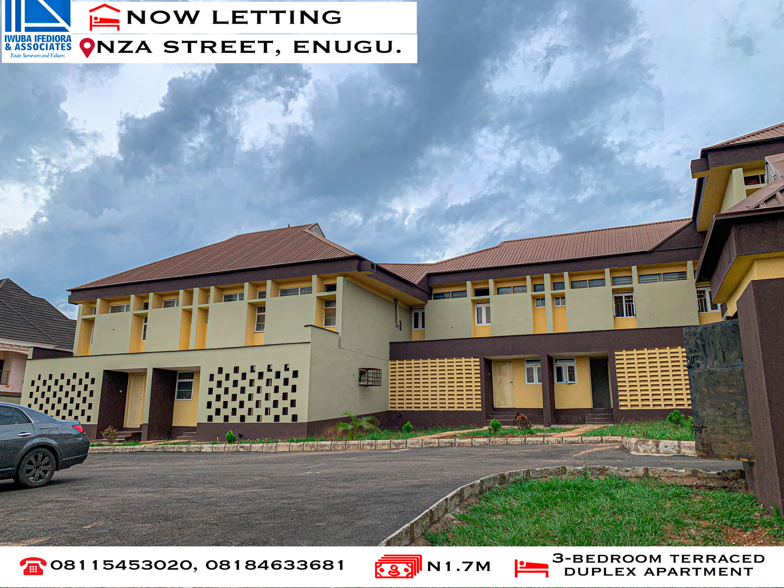 3-Bedroom Terraced Duplex Apartment at Nza Street, Independence Layout. Enugu State.